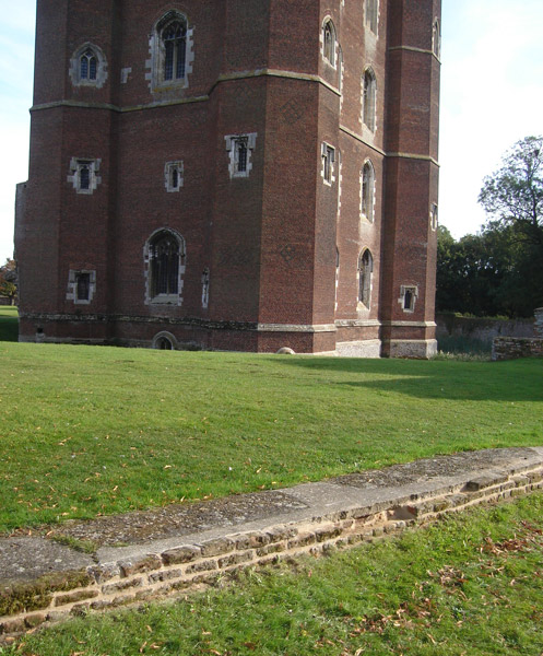 Tattershall Castle restored Wall