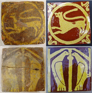 Nuneaton Priory Tiles - Kate Tiler