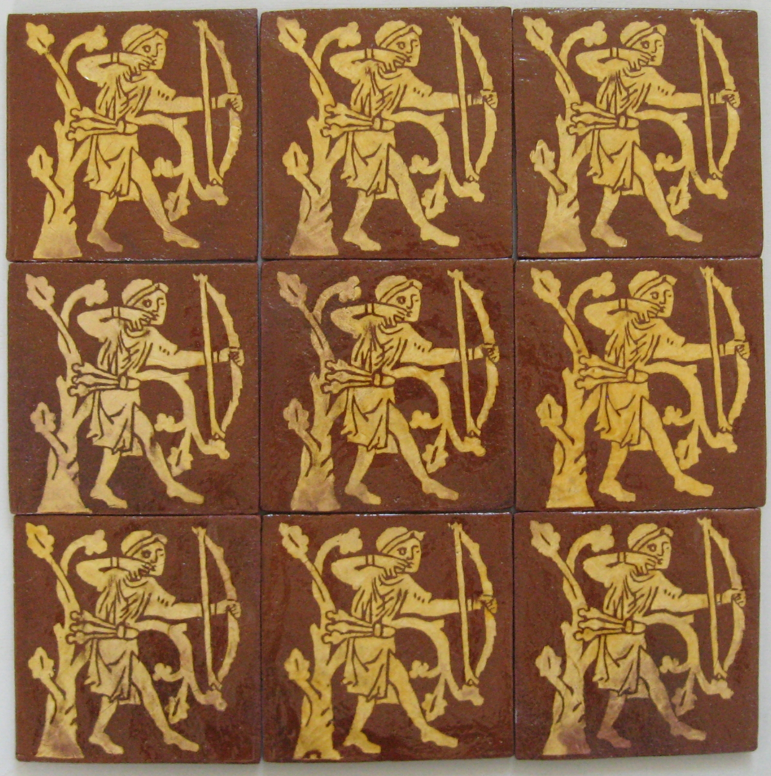 A set of 9 archer tiles.