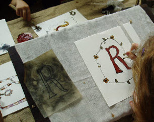 Pricked and pounced parchment letters in the Medieval Scriptorium